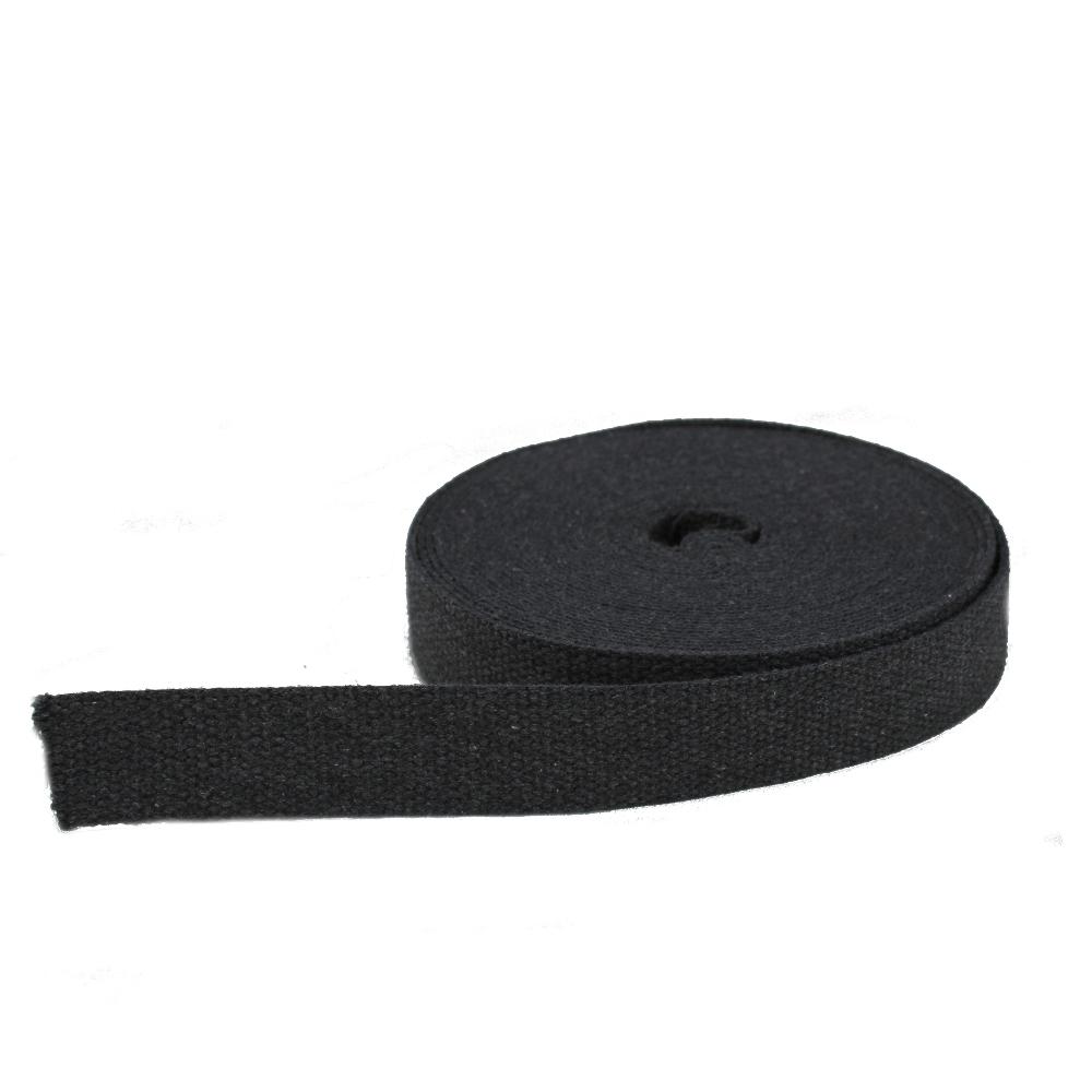 Corda Piatta Nastro Cinghia di Cotone 30 mm per Manici e Tracolle col. Grigio Scuro (Webbing Strap Tape)