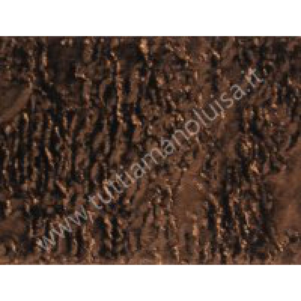brand new 1f345 8eb81 Striscia di Pelliccia Ecologica altezza 14 cm Modello Astrakan Marrone